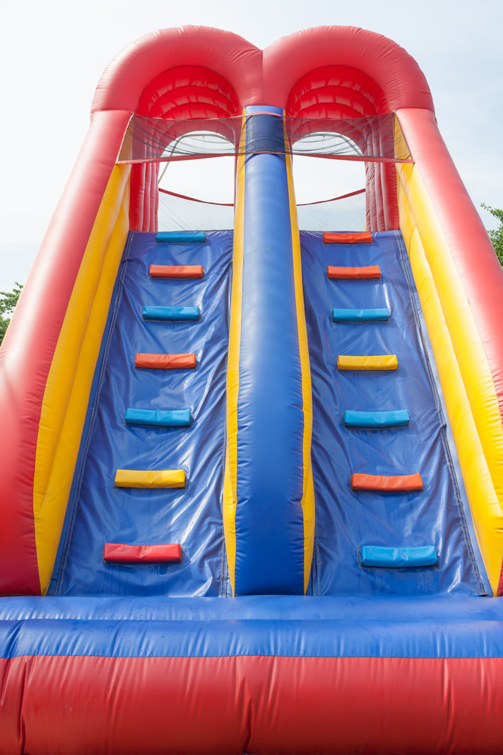 large double lane climbing obstacle course bouncy castle
