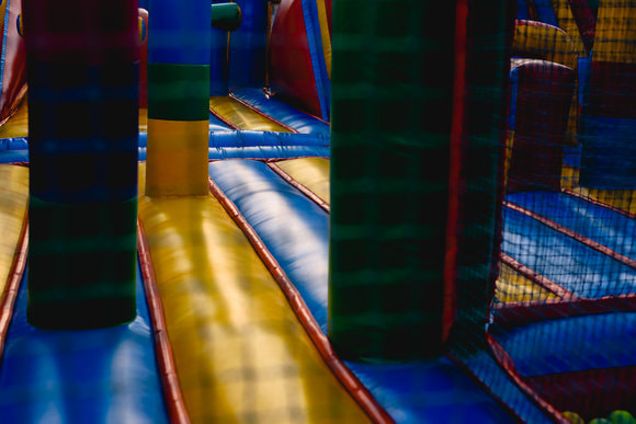 indoor sized bouncy house maze